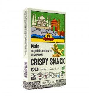 Индийские пшеничные хлебцы без добавок Оригинальные (Crispy Snack Plain), Good Sign Company