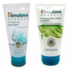 Освежающий гель для умывания и Очищающий скраб с нимом, Himalaya Herbals