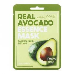 Тканевая маска для лица с экстрактом авокадо (Real Avocado Essence Mask), Farmstay