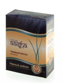 Травяная краска для волос AASHA Herbals, Черный индиго