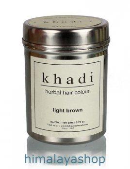 Хна для волос светло коричневая, Khadi