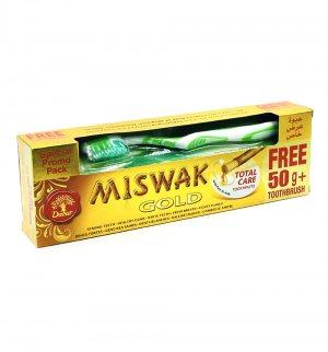 Зубная паста Мишвак Голд + Зубная щетка в подарок (Miswak Gold), Dabur