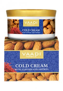 Зимний крем для лица с миндалем, алоэ вера и шафраном, Vaadi Herbals
