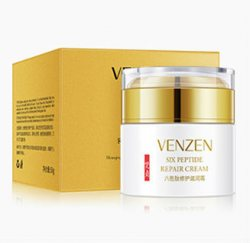 Разглаживающий крем для лица с шестью пептидами и витамином Е (Facial Six Peptide Repair Cream) (FZ15230), Venzen