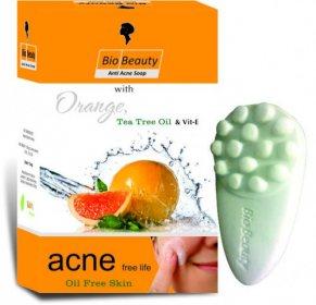 Мыло антиакне для жирной кожи Orange, Tea Tree Oil & Vit.E, Bio Beauty