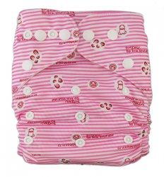 Подгузник многоразовый Розовые штрихи, StylishBaby