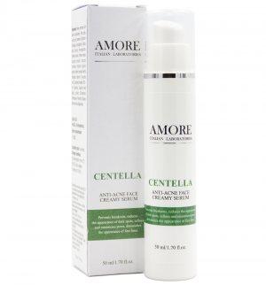 Концентрированная крем-сыворотка с центеллой для лечения проблемной кожи, AMORE