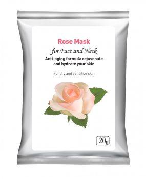 Маска для лица Роза (Rose Mask), Herbals