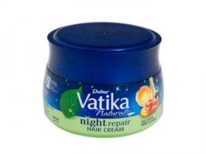 Крем для волос ночной восстанавливающий Dabur Vatika 140 мл. + мыло Vatika Dermoviva 125 г. бесплатно !!!