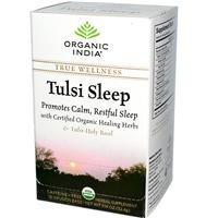 Чай, обогащенный 7 растительными компонентами для релаксации и здорового сна Tulsi Sleep Organic India 18 шт